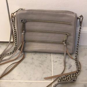 Rebecca Minkoff leather mini 4 zip crossbody bag